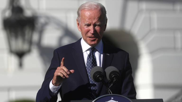 An image that illustrates this article Biden meets with Democratic members of Congress in race to pass agenda
