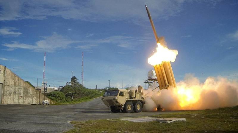 FILE PHOTO: A Terminal High Altitude Area Defense (THAAD) interceptor is launched during a successful intercept test, in this undated handout photo provided by the U.S. Department of Defense, Missile Defense Agency.  U.S. Department of Defense, Missile Defense Agency/Handout via Reuters/File Photo  ATTENTION EDITORS - THIS IMAGE HAS BEEN SUPPLIED BY A THIRD PARTY.