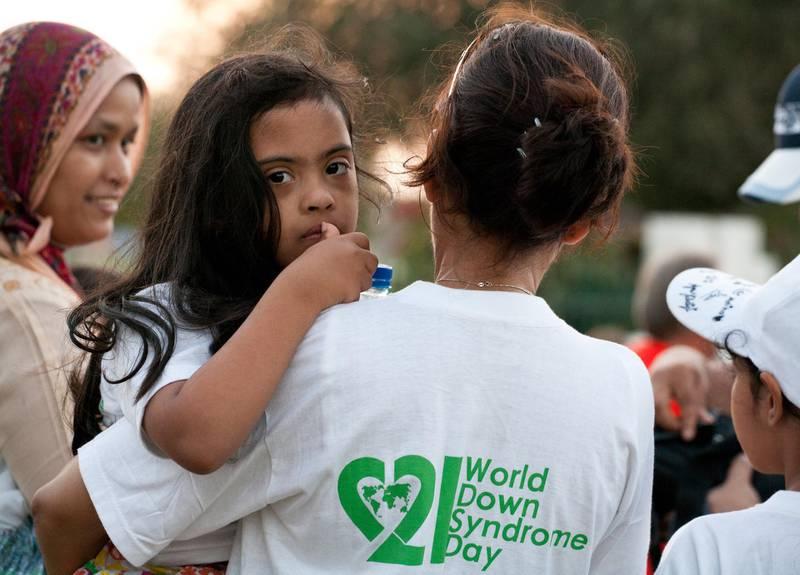 Awareness walk for the 'World Down Syndrome Day'. Safa Park, Dubai. Duncan Chard for the National