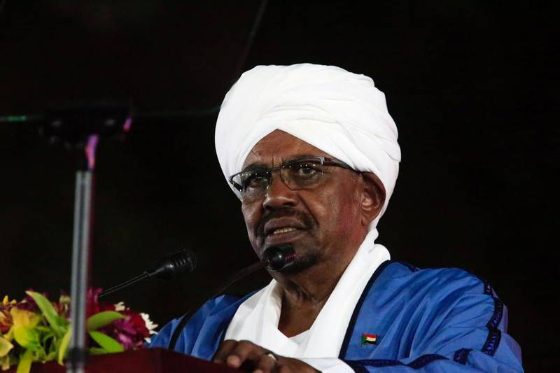 Sudan's President Omar Al Bashir addresses the nation duringthe 62nd Anniversary Independence Day at the Palace in Khartoum, Sudan December 31, 2017. REUTERS/Mohamed Nureldin Abdallah