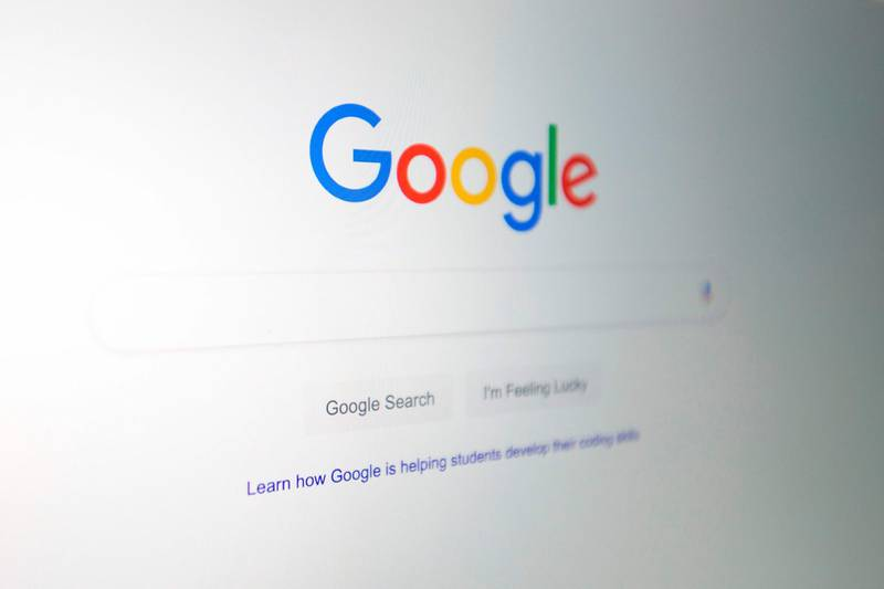 (FILES) In this file illustration picture taken on July 10, 2019, the Google logo is seen on a computer in Washington, DC. US internet giant Google has agreed a settlement totalling 945 million euros ($1.0 billion) to settle a tax dispute in France under an agreement announced in court on September 12, 2019. The company will pay a 500-million-euro fine for tax evasion, as well as a further 465 million euros to settle claims with French tax authorities. / AFP / Alastair Pike