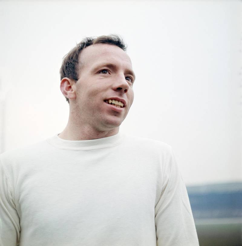 UNITED KINGDOM:  England and Manchester United player Nobby Stiles circa 1965. Stiles was part of the 1966 England World Cup winning team.  (Photo by Don Morley/Allsport UK/Getty Images)