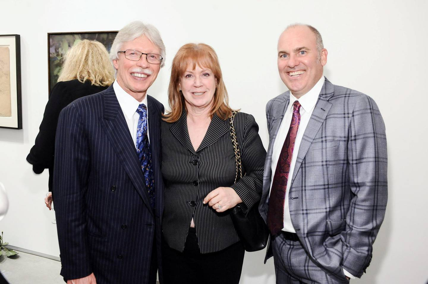 EL SEGUNDO, CA - JANUARY 25: Richard Lundquist, Melanie Lundquis and Brian Sweeney attend ESMoA Celebrates Opening Experience With DESIRE Exhibit  at El Segundo Museum of Art on January 25, 2013 in El Segundo, California. (Photo by Stefanie Keenan/WireImage)