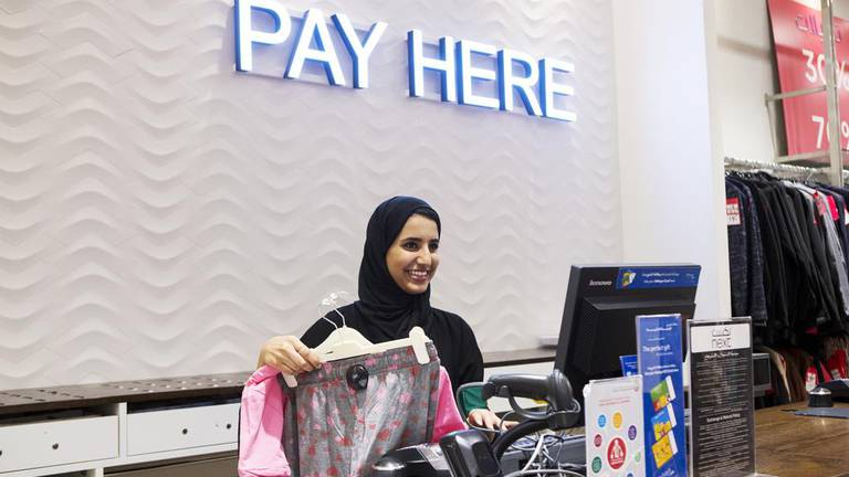 An image that illustrates this article Thousands of Emiratis trained to work in retail under youth scheme