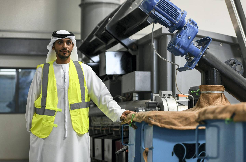 Abu Dhabi, United Arab Emirates -  Abdulaziz AlJaberi, Senior Project manager at TADWEER in the Fallen Stock facility. Khushnum Bhandari for The National