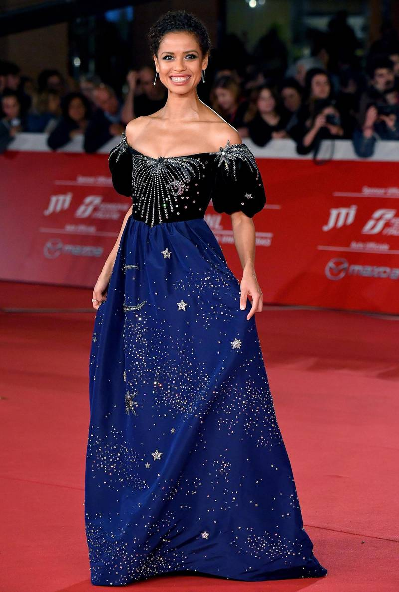 epa07928425 British actress/cast member Gugu Mbatha-Raw arrives for the screening of the movie 'Motherless Brooklyn' at the 14th annual Rome Film Festival, in Rome, Italy, 17 October 2019. The film festival runs from 17 to 27 October.  EPA-EFE/ETTORE FERRARI