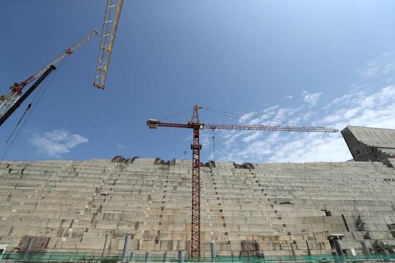 Ethiopia's Grand Renaissance Dam powerhouse is seen as it undergoes construction work on the river Nile in Guba Woreda, Benishangul Gumuz Region, Ethiopia September 26, 2019. Picture taken September 26, 2019. REUTERS/Tiksa Negeri