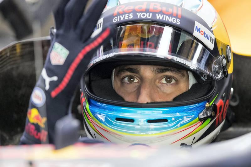Abu Dhabi, United Arab Emirates, November 24, 2017:    Daniel RicciardoÊof Australia and Red Bull Racing during practise for the Abu Dhabi Formula One Grand Prix at Yas Marina Circuit in Abu Dhabi on November 24, 2017. Christopher Pike / The National  Reporter: Graham Caygill Section: Sport