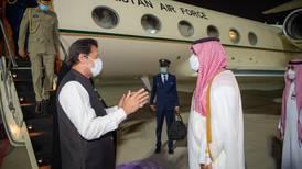 Crown Prince Mohammed bin Salman welcomes Pakistan PM Imran Khan
