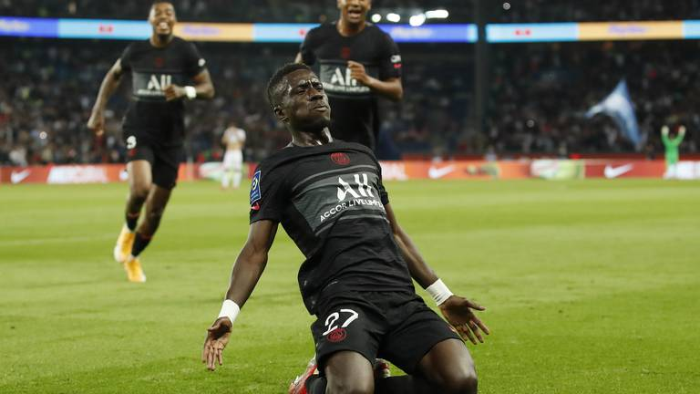 An image that illustrates this article PSG ratings v Montpellier: No Messi, Mbappe 6, Neymar 7, Gueye 8