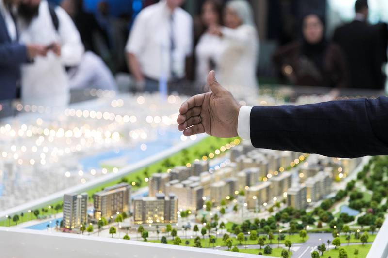 ABU DHABI, UNITED ARAB EMIRATES - April 16 2019.Riviera by Azizi at Cityscape Abu Dhabi 2019.(Photo by Reem Mohammed/The National)Reporter: Sarmad KhanSection: NA + BZ
