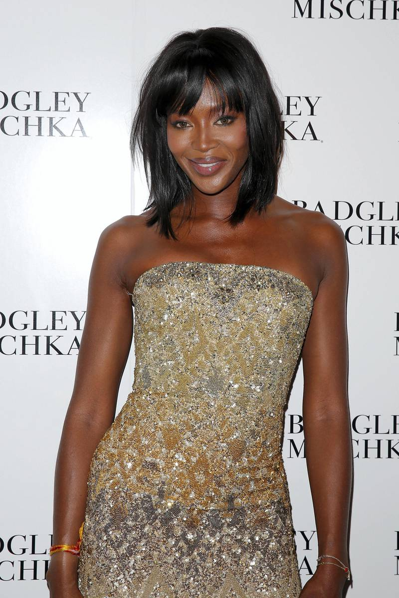 NEW YORK, NY - SEPTEMBER 09: Naomi Campbell backstage at the Badgley Mischka fashion show during Mercedes-Benz Fashion Week Spring 2015 at The Theatre at Lincoln Center on September 9, 2014 in New York City.   Chelsea Lauren/Getty Images for Mercedes-Benz Fashion Week/AFP