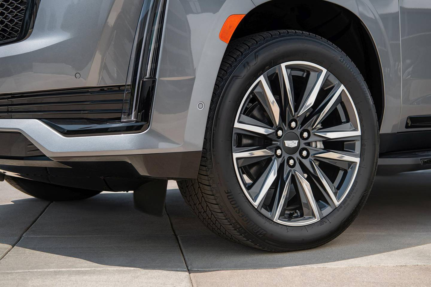 """The new 2021 Escalade comes with standard 22"""" wheels."""