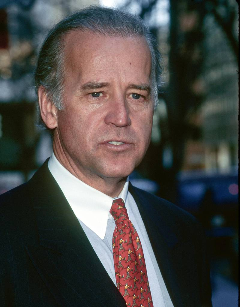 Close-up of American politician US Senator (and future Vice President) Joe Biden at an unspecified event, Washington DC, 1997. (Photo by Mark Reinstein/Corbis via Getty Images)