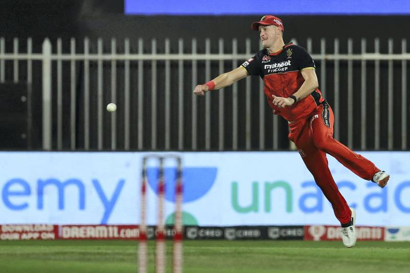 Chris Morris of Royal Challengers Bangalore during match 28 of season 13 of the Dream 11 Indian Premier League (IPL) between the Royal Challengers Bangalore and the Kolkata Knight Riders held at the Sharjah Cricket Stadium, Sharjah in the United Arab Emirates on the 12th October 2020.  Photo by: Deepak Malik  / Sportzpics for BCCI