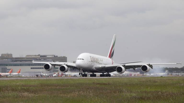 An image that illustrates this article Emirates moves forward delivery of its final Airbus A380 to November
