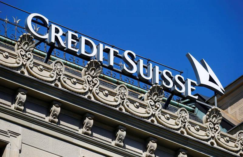 FILE PHOTO: The logo of Swiss bank Credit Suisse is seen at its headquarters in Zurich, Switzerland March 24, 2021.   REUTERS/Arnd Wiegmann/File Photo