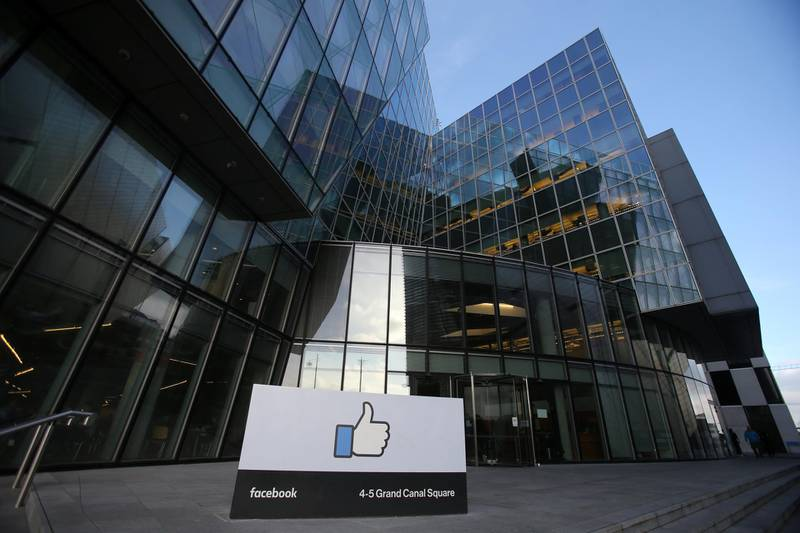 Facebook's European headquarters in Dublin. (Photo by Niall Carson/PA Images via Getty Images)