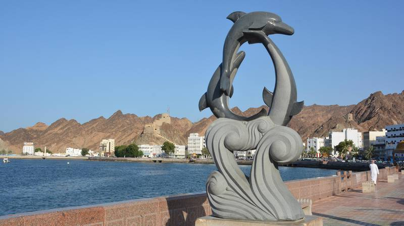 The famous Muttrah seafront street in Oman. Saleh Al-Shaibany for The National