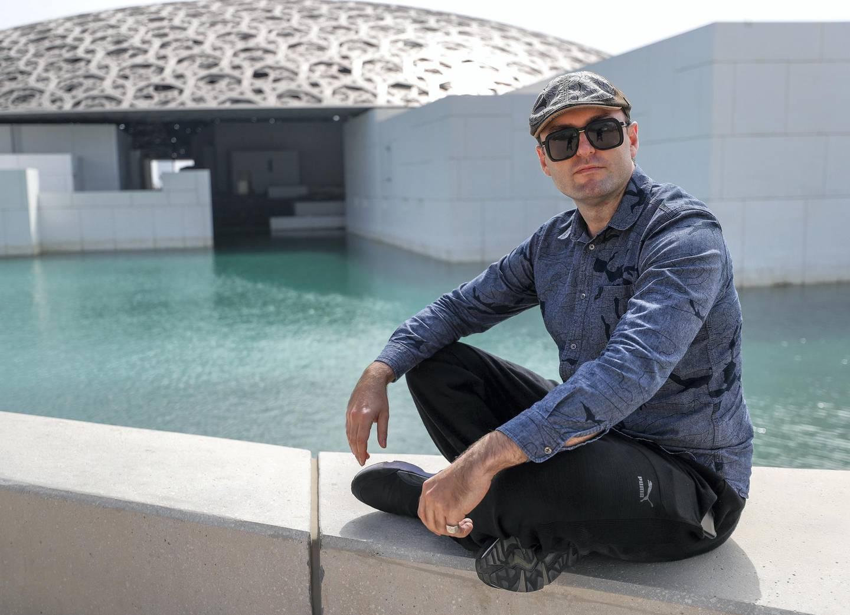 Abu Dhabi, UAE,  April 25, 2018.  James De Valera, AKA Lobito Brigante, the first DJ to perform at the Louvre AUH.Victor Besa / The NationalArts & Culture