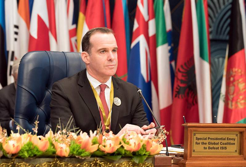 U.S. envoy to the coalition against Islamic State Brett McGurk attends the Kuwait International Conference for Reconstruction of Iraq, in Bayan, Kuwait February 13, 2018. REUTERS/Stephanie McGehee