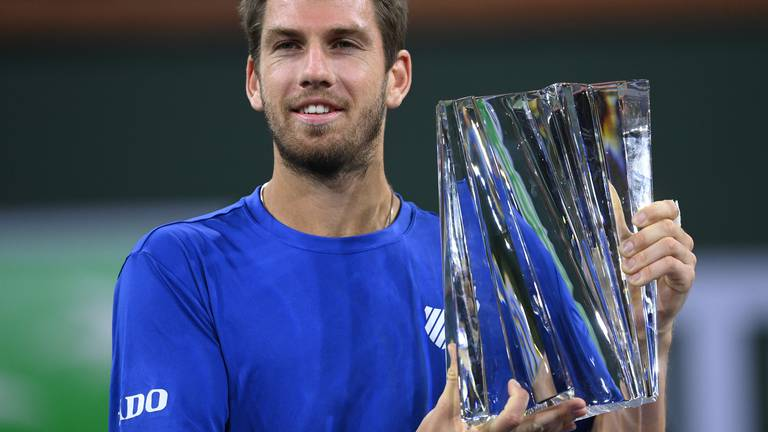 An image that illustrates this article Norrie 'so happy' after becoming first Brit to win Indian Wells title