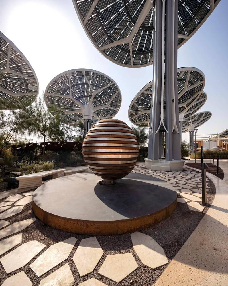 DUBAI, MARCH 11 2021: General view of Takween art installation at Terra - The Sustainability Pavilion as part of Expo 2020 Dubai. (Photo by Dany Eid/Expo 2020 Dubai)