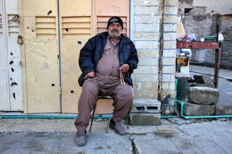 IRAQ-MOSUL_S TWO GOVERNORS-PICTURED-Mohammad Zaki Abdulrahman sells petrol to support his family. Charlie Faulkner for The National
