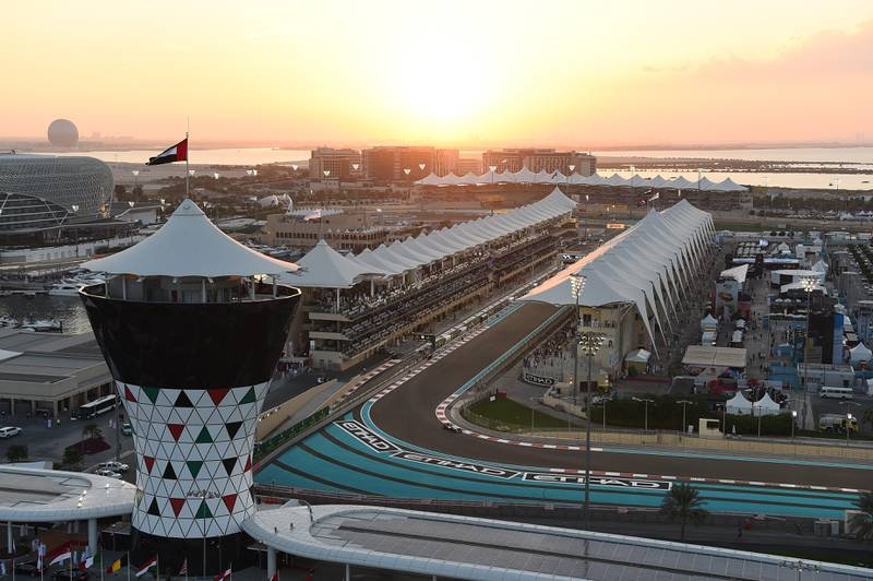 Aerial view at Formula One World Championship, Rd19, Abu Dhabi Grand Prix, Race, Yas Marina Circuit, Abu Dhabi, UAE, Sunday 29 November 2015.