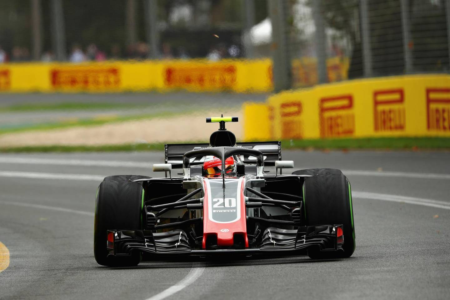 MELBOURNE, AUSTRALIA - MARCH 24: Kevin Magnussen of Denmark driving the (20) Haas F1 Team VF-18 Ferrari on track during final practice for the Australian Formula One Grand Prix at Albert Park on March 24, 2018 in Melbourne, Australia.  (Photo by Robert Cianflone/Getty Images)