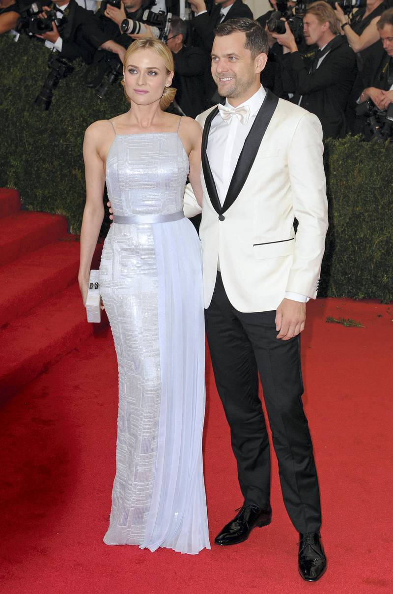 NEW YORK, NY - MAY 05:  Diane Kruger and Joshua Jackson attend the 'Charles James: Beyond Fashion' Costume Institute Gala at the Metropolitan Museum of Art on May 5, 2014 in New York City.  (Photo by Axelle/Bauer-Griffin/FilmMagic)