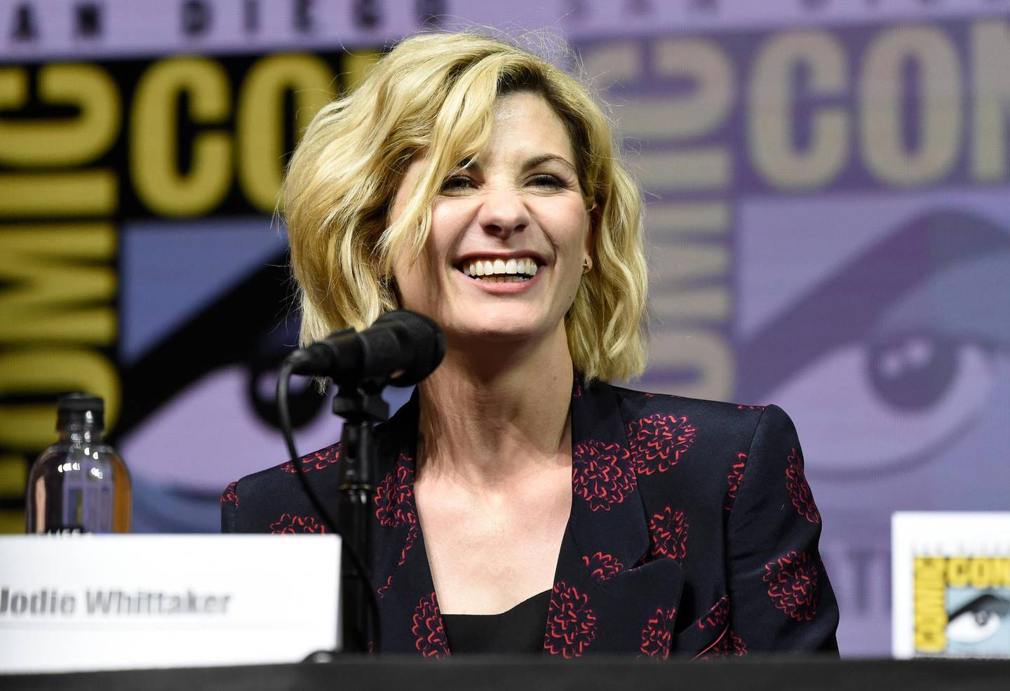 Jodie Whittaker attends the EW: Women who Kick Ass panel on day three of Comic-Con International on Saturday, July 21, 2018, in San Diego. (Photo by Chris Pizzello/Invision/AP)