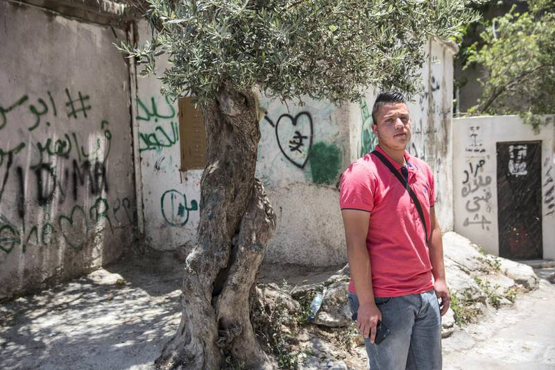 Momen  Zboum,20 , in the Aida refugee camp on June 23,2019.Photo by Heidi Levine for The National