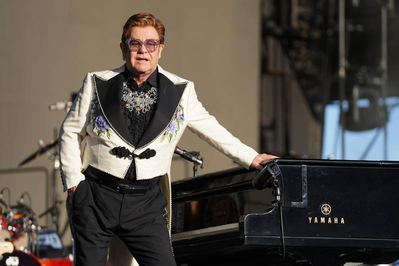 NAPIER, NEW ZEALAND - FEBRUARY 06: Elton John performs at Mission Estate on February 06, 2020 in Napier, New Zealand. (Photo by Kerry Marshall/Getty Images)