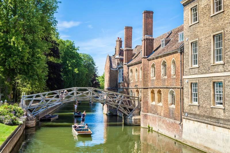 EY4N2N Mathematical Bridge at Queens College Cambridge University Cambridgeshire England UK GB EU Europe