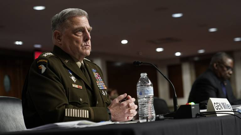 An image that illustrates this article Gen Milley defends Trump-era nuclear launch conversations with China