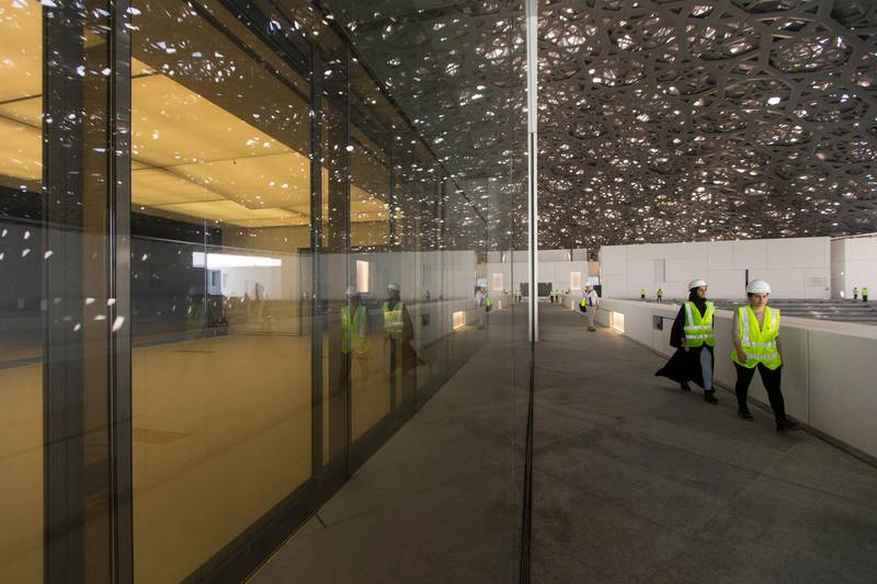 Abu Dhabi, United Arab Emirates, June 22, 2017:     General view of the Louvre Abu Dhabi construction site on Saadiyat Island in Abu Dhabi on June 22, 2017. Christopher Pike / The NationalReporter: James Langston, Nick LeechSection: Louvre *** Local Caption ***  CP0622-Louvre-09.JPG