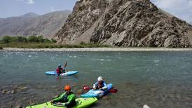 Foreign kayakers surprise Afghans in the Panjshir Valley