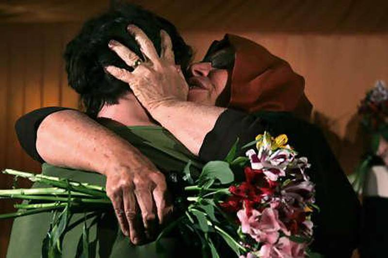 Laura Fattal, right, and her son Josh Fattal hug, as they meet at the Esteghlal hotel in Tehran, Iran, Thursday, May 20, 2010. Iran detained the three Americans Sarah Shourd, 31; her boyfriend, Shane Bauer, 27; and their friend Josh Fattal, 27, along the Iraqi border and have accused them of spying. Their relatives reject the accusation and say the three were hiking in Iraq's scenic and largely peaceful northern Kurdish region. (AP Photo/Press TV)