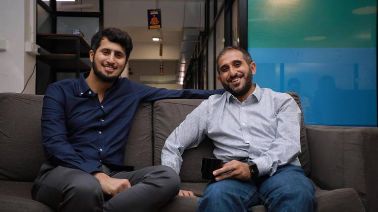 Noon Academy founders Mohammed Aldhalaan and Dr. Abdulaziz Alsaeed. Courtesy Noon Academy