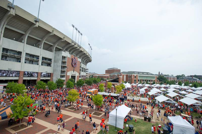 AUBURN, AL - AUGUST 31: General view of Auburn's Jordan-Hare Stadium before the Auburn Tigers' game against the Washington State Cougars on August 31, 2013 at Jordan-Hare Stadium in Auburn, Alabama.   Michael Chang/Getty Images/AFP