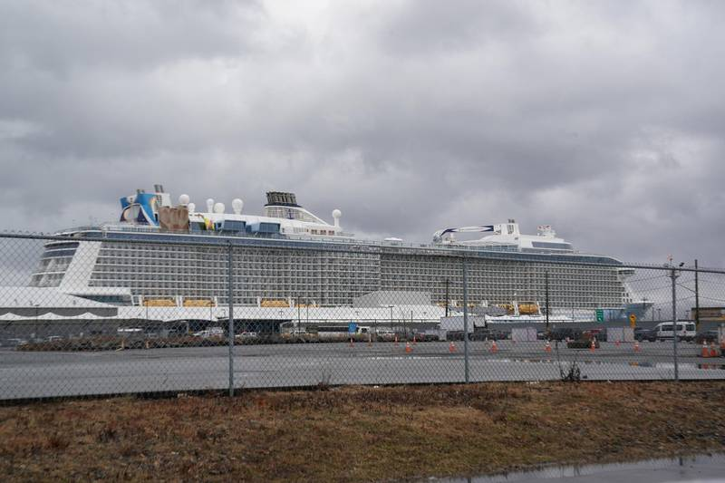 FILE PHOTO: The Royal Caribbean cruise ship Anthem of the Seas is docked after passengers were removed with possible coronavirus symptoms at the port of Bayonne, New Jersey, U.S., February 7, 2020. REUTERS/Bryan R Smith/File Photo