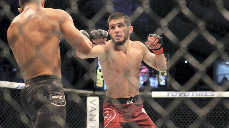 An image that illustrates this article 'Real deal' Makhachev set to emulate Nurmagomedov and be UFC champ