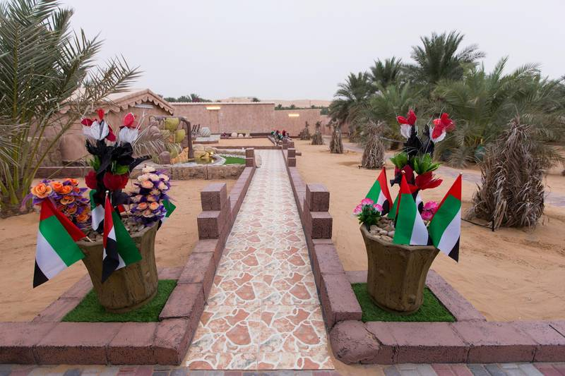 Liwa, United Arab Emirates, July 20, 2017:    General view of Rashed Abdullah farm in the Al Dhafra Region of Abu Dhabi on July 20, 2017. Abdullah was the winner of the largest date branch for the Liwa Date Festival which runs from July 19th to 29th. The winning branch weighed in at 106.5kg. Christopher Pike / The NationalReporter: Anna ZachariasSection: News