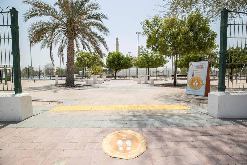 DUBAI, UNITED ARAB EMIRATES. 03 AUGUST 2020. Public parks are open and allows use of facilities now in Dubai. (Photo: Antonie Robertson/The National) Journalist: None. Section: National.