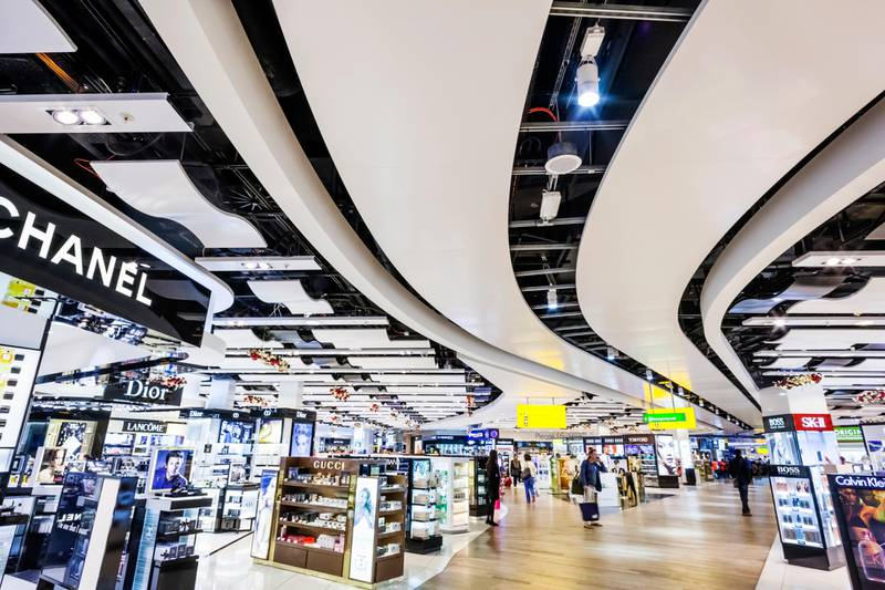 England, London, Heathrow Airport, Duty Free Shopping Arcade (Photo by: Prisma by Dukas/Universal Images Group via Getty Images)