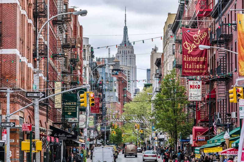 Empire State building seen from Little Italy, New York city, USA. Getty Images