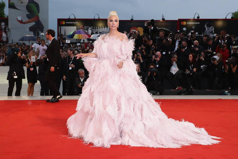 VENICE, ITALY - AUGUST 31:  Lady Gaga walks the red carpet ahead of the 'A Star Is Born' screening during the 75th Venice Film Festival at Sala Grande on August 31, 2018 in Venice, Italy.  (Photo by Vittorio Zunino Celotto/Getty Images)
