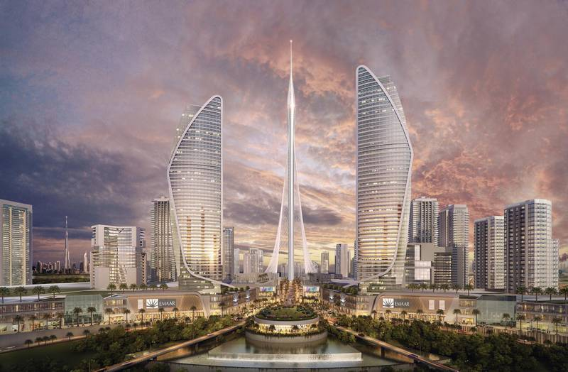 Emaar, the developer of the world's tallest building in Dubai says it plans to build an even taller tower in the Mideast commercial hub, called the Tower at Dubai Creek Harbour.Renderings courtesy Emaar *** Local Caption ***  bz11ap-tower-05.jpg