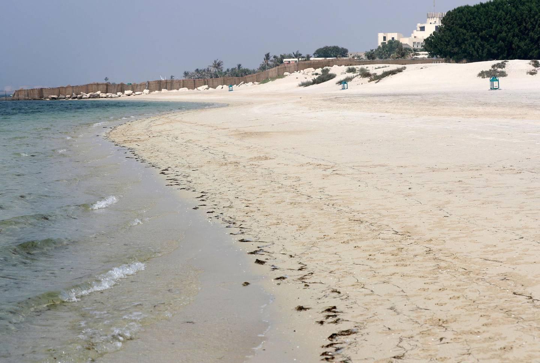 Dubai, United Arab Emirates - August 8, 2018: Story on unspoilt beaches. Jebel Ali beach. Wednesday, August 8th, 2018 at the Jebel Ali, Dubai. Chris Whiteoak / The National